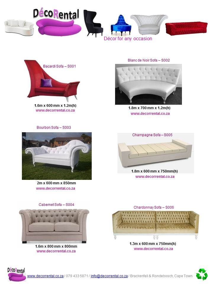 Sofa's for Hire