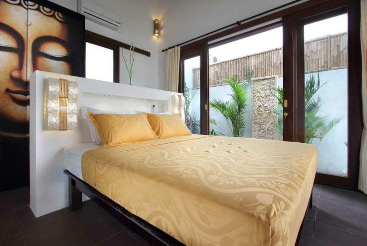 Grande #chambre et son petit #jardin #tropical.