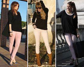ZARA is the new black: Los pantalones pitillos en color rosa pastel