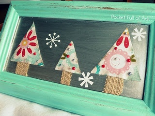 Christmas tree wall art, with instructions