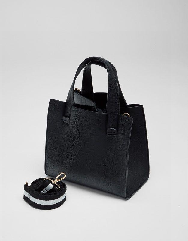 Siyah basic shopper çanta - Çantalar - Aksesuarlar - Kadın - PULL&BEAR Türkiye