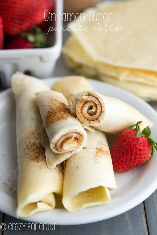 Cinnamon Sugar Pancake Rolls - the perfect grab and go pancake breakfast! #recipes: Idea, Breakfast Yummy, Cinnamon Sugar, Breakfast Recipes, Pancake Breakfast, Sugar Pancake, Breakfast Brunch