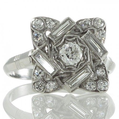 1000+ Images About Art Deco Diamond Engagement Rings On