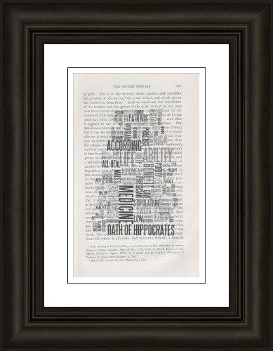 Oath of Hippocrates Word Clouds Doctor Gift by SKConcepts on Etsy, $8.95  Doctor's Day - medical student gift