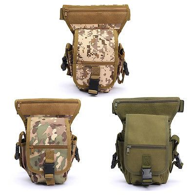 Drop Leg Bag Motorcycle Thigh Pack Waist Belt Tactical Bag Gun Holster Pouch