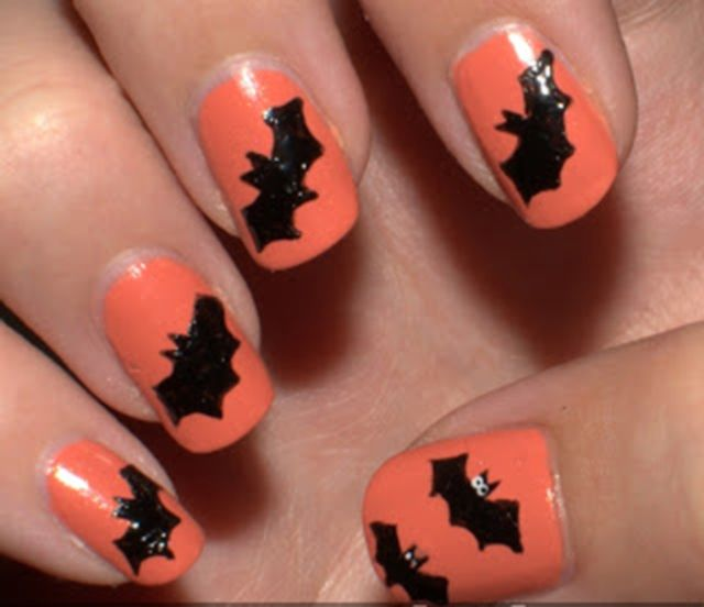simple-Halloween-bat-nail-art-designs-ideas-of- - 39 Best Halloween Bat Nail Art Images On Pinterest Halloween Nail