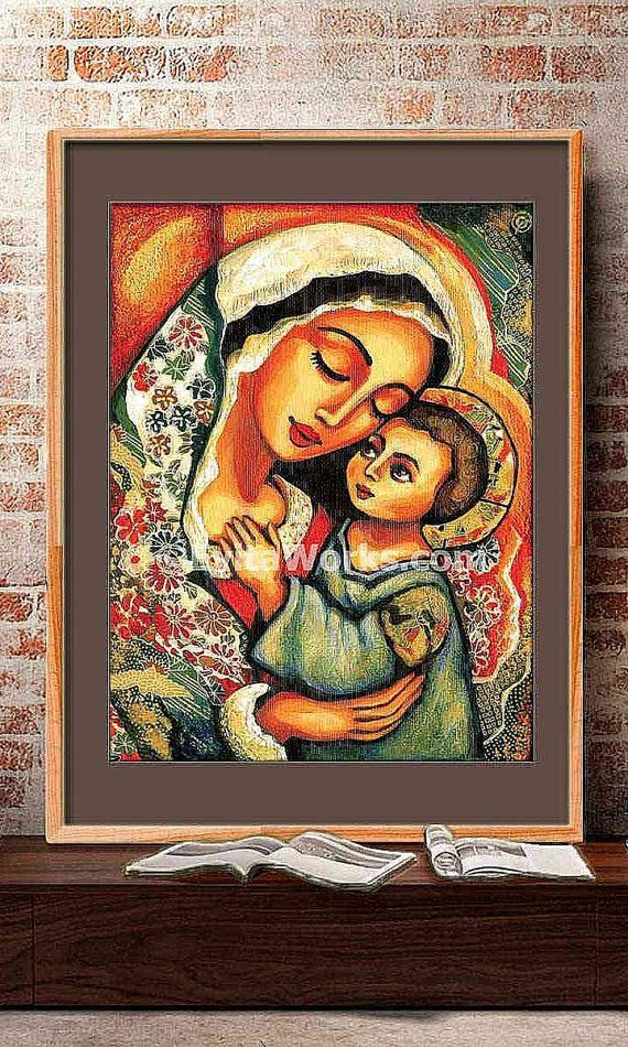 Madonna Child Blessed Mother Virgin Mary Jesus mother son