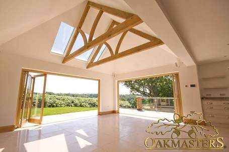Green oak allows for commercial buildings with beautiful open plan designs - Oakmasters