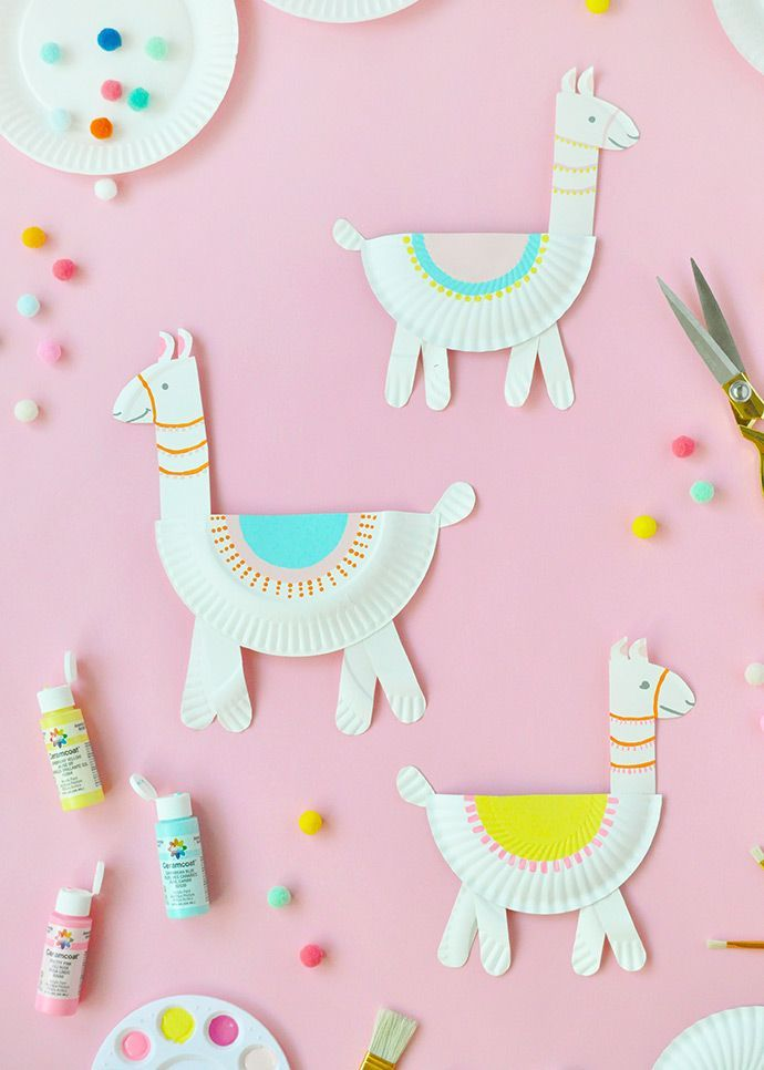 Paper Plate Llamas