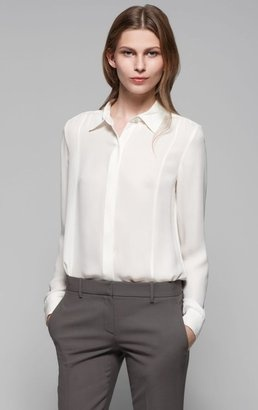 #Theory Mitsy Silk Blouse  #corporatechic