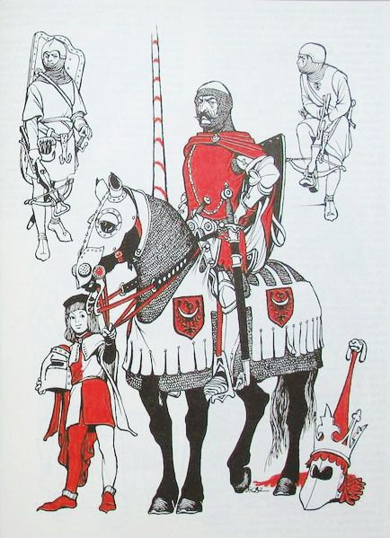Polish knight, late 15th century (times of the Battle of Grunwald).
