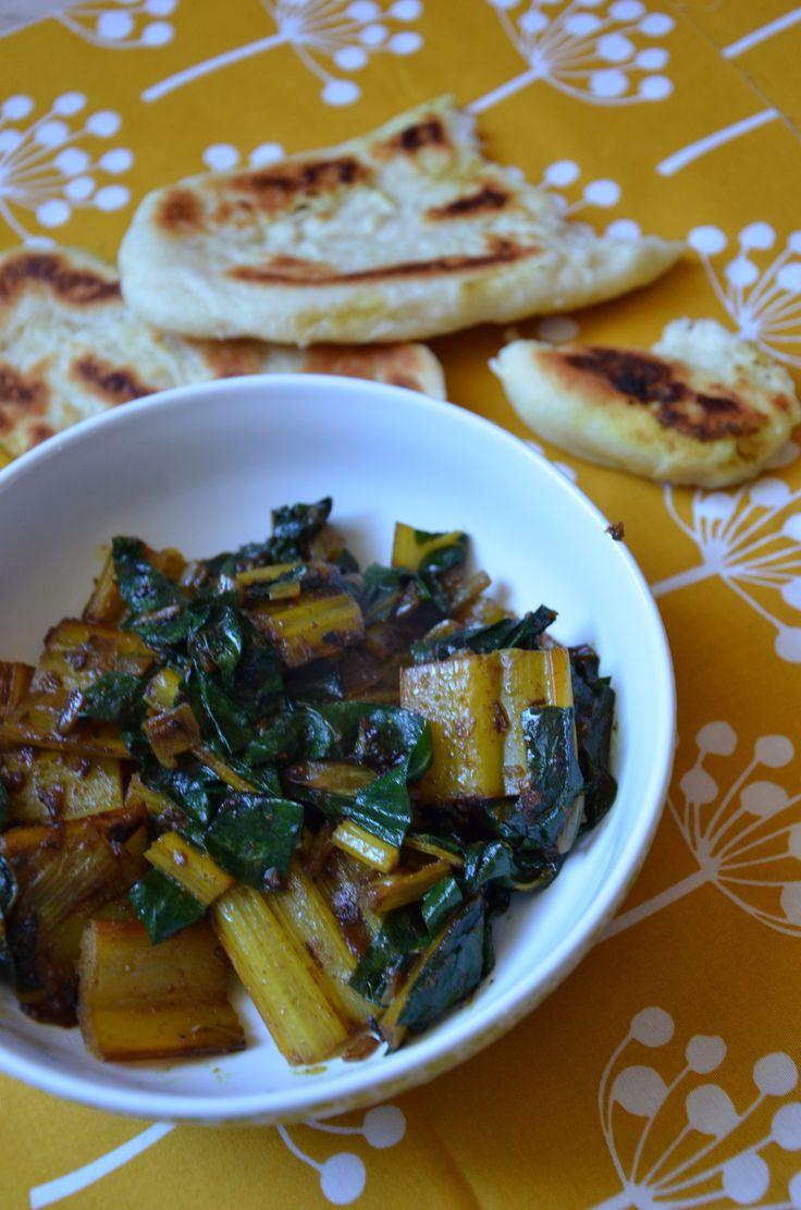 Blettes indiennes et naans (recette)