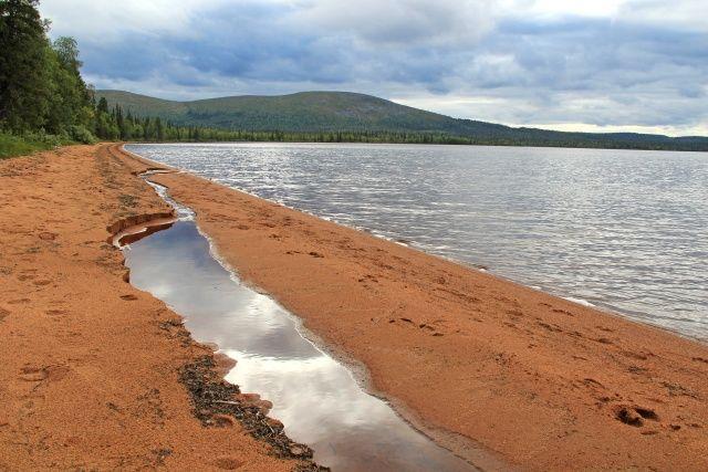 Pallasjärvi red sand. Pallas-Yllästunturi National Park, Lapland of Finland - Pallasjärven punainenhiekka. Photo: Väiski / Luontoon.fi