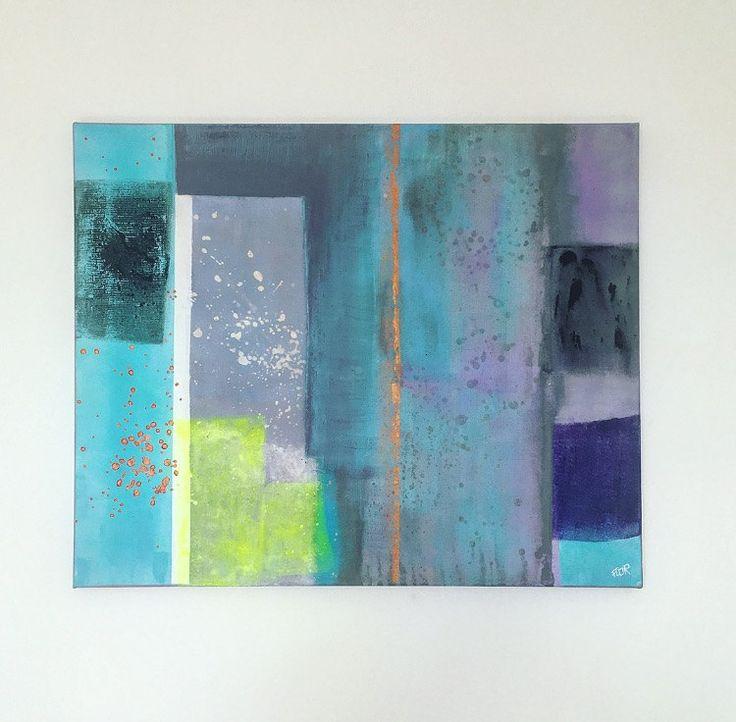 1000 ideas about peinture acrylique abstraite on for Peinture gris turquoise