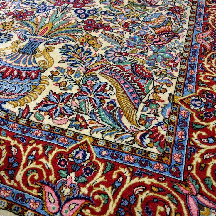 Mystical Persian Sarouk  #persian #persianrug #sarouk #floral #rug #rugs…