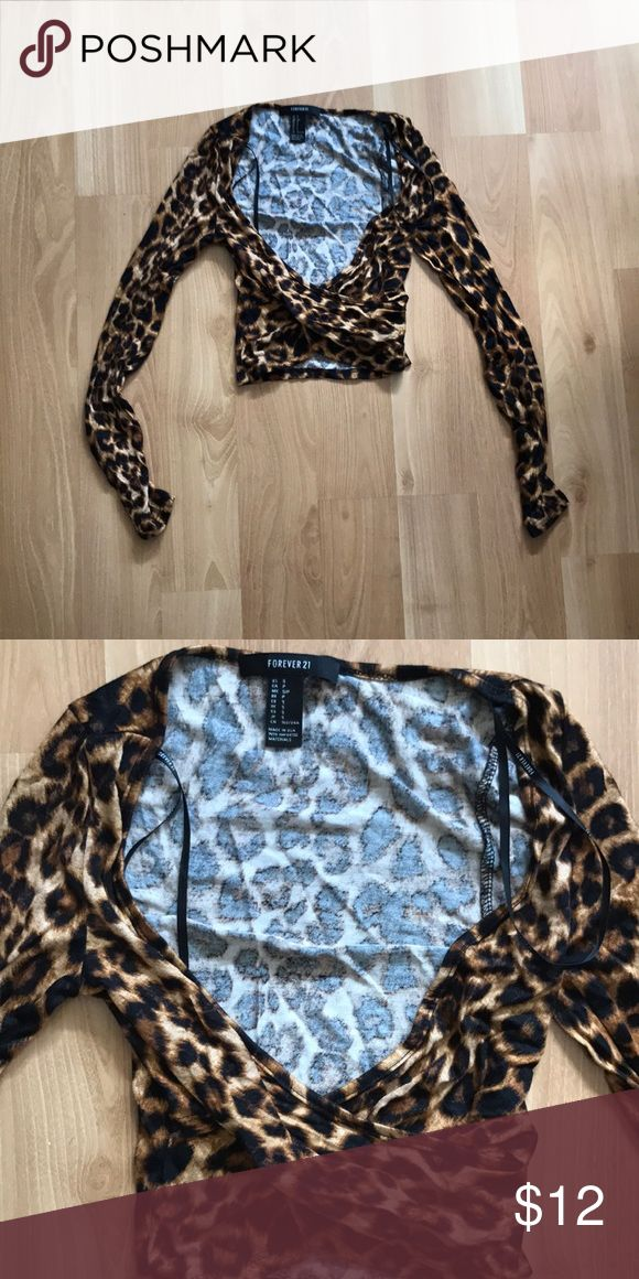 Forever 21 animal print crop top Worn only once. Animal print Forever 21 crop top. Super soft! Forever 21 Tops Crop Tops