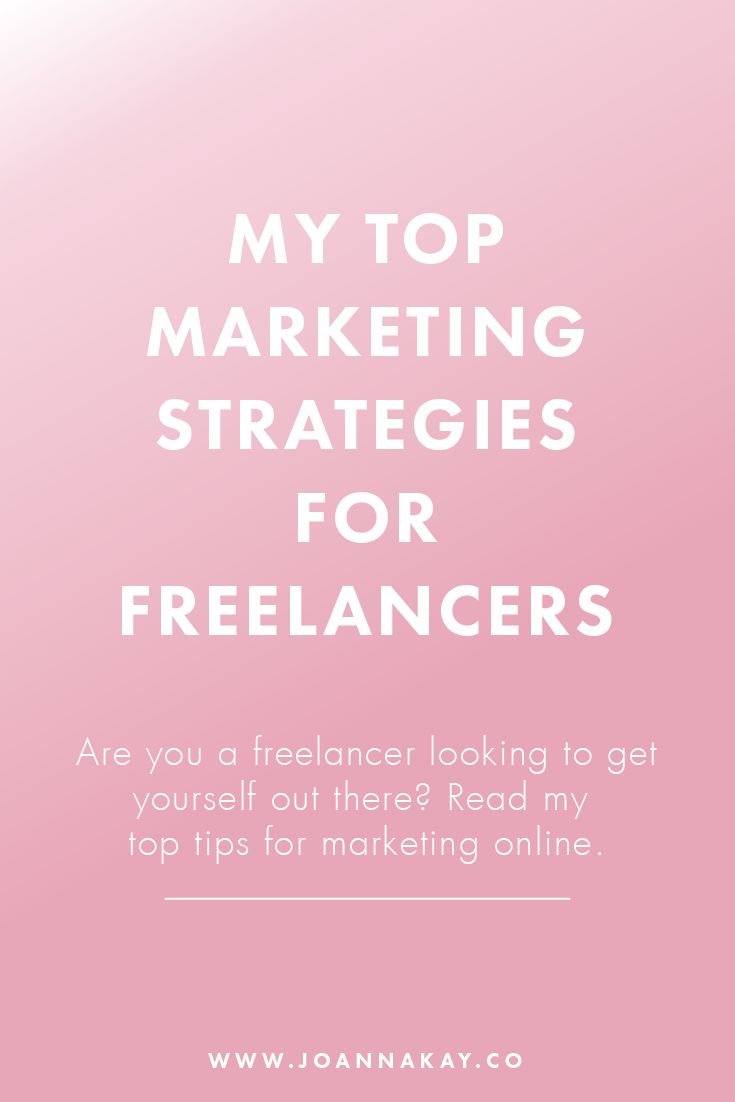 Are you a freelancer looking to get yourself out there? Not sure what king of marketing you should be focusing on? I'm sharing my most effective strategies for marketing online, click through to read more!