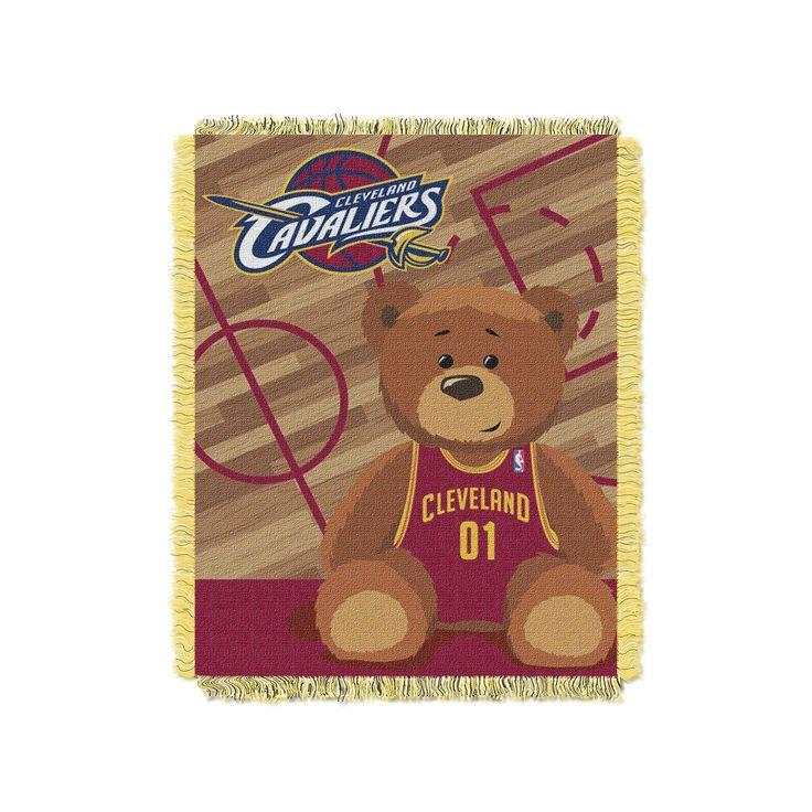 Cleveland Cavaliers Baby Jacquard Throw, Multicolor