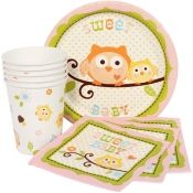 Owl Baby Shower Pink Munch Pack for 8