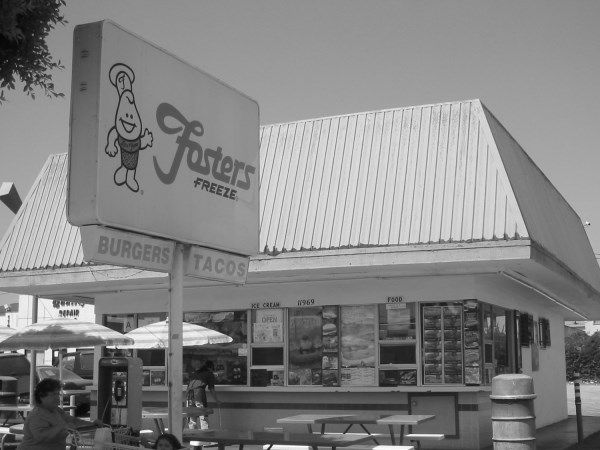 """Foster's Freeze -11969 Hawthorne Boulevard (just north of 120th Street) The Beach Boys grew up in Hawthorne, California, just outside of greater Los Angeles. The """"hamburger stand"""" mentioned in their hit song, Fun, Fun, Fun, was actually this very Foster's Freeze (which they nicknamed """"Frostie's"""")."""