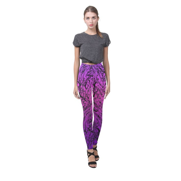 Wild Zebra Colorful Print Juleez Cassandra Women's Leggings (Model L01).