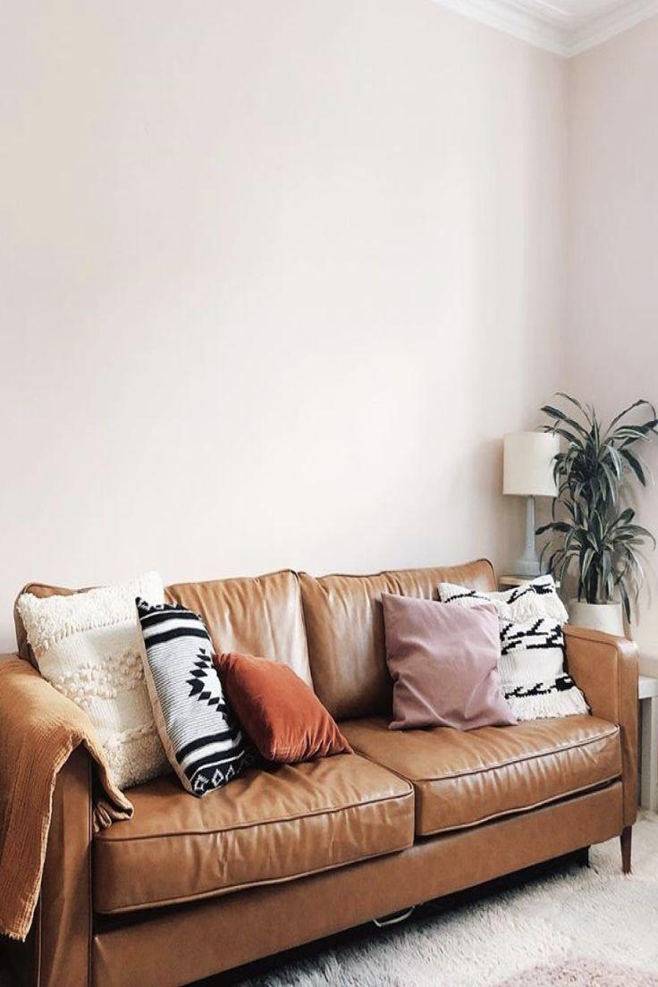 ikea karlstad 3seater sofa in caramel tan leather