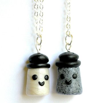 Salt & Pepper BFF Necklaces, $27, now featured on Fab. @Katie Hrubec BRUNER we need this!!!