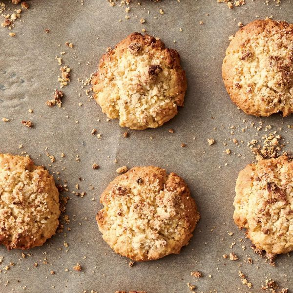 Jamie Oliver's Apple Crumble Cookies recipe from the book of his Channel 4 series, Quick & Easy Food, is a quick biscuit recipe that is perfect to bake with kids.