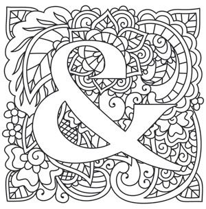 Craft Delicate Charm With This Mehndi Style Number Downloads As A PDF Use Pattern Alphabet ColoringColoring BookColouringAdult