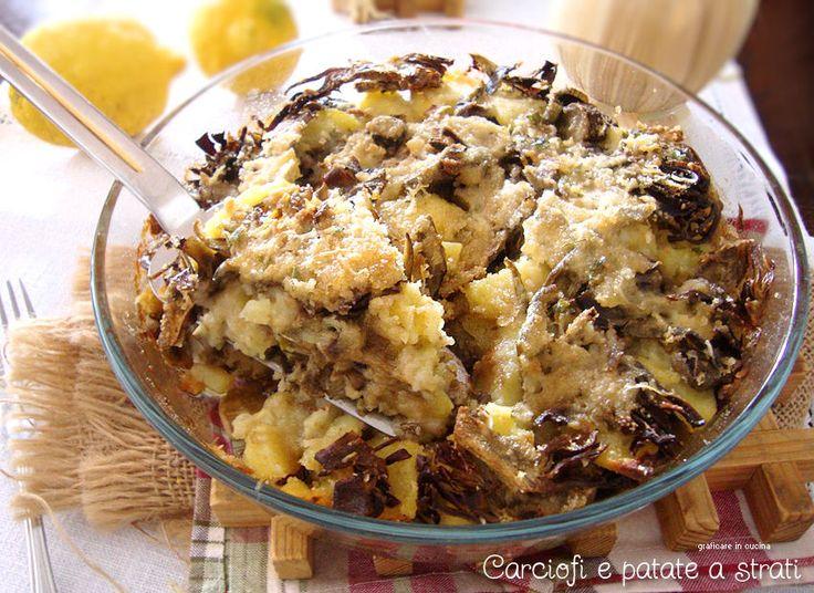 Carciofi e patate a strati http://blog.giallozafferano.it/graficareincucina/carciofi-e-patate-a-strati/