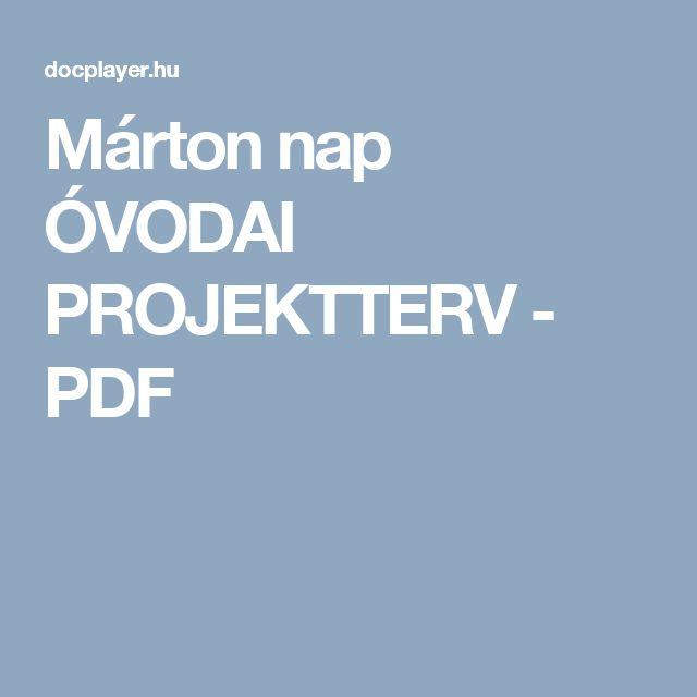 Márton nap ÓVODAI PROJEKTTERV - PDF