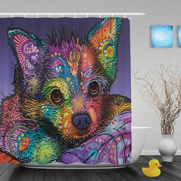 Chihuahua Soulful Eyes High Quality Durable Polyester Shower