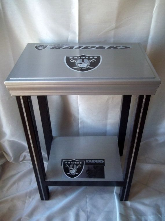 Oakland Raiders Football Table End Table Side by drSportsCaves, $65.00