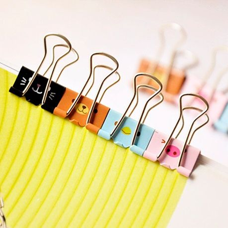 48 pcs/Lot Rilakkuma Metal clip Clamp for album foto memo paper kawaii Stationary Office accessories School supplies 6232-in Clips from Offi...