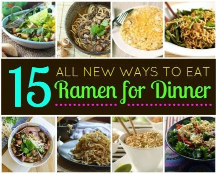 ¡Un gran abanico de opciones! - 15 New Ways to Eat Ramen for Dinner  #ramen #noodles #recipe
