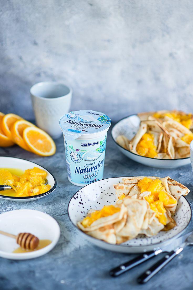 picante-jalapeno.blogspot.com: Naleśniki z karmelizowanymi pomarańczami i jogurtem Naturalnym Gęstym Bakoma