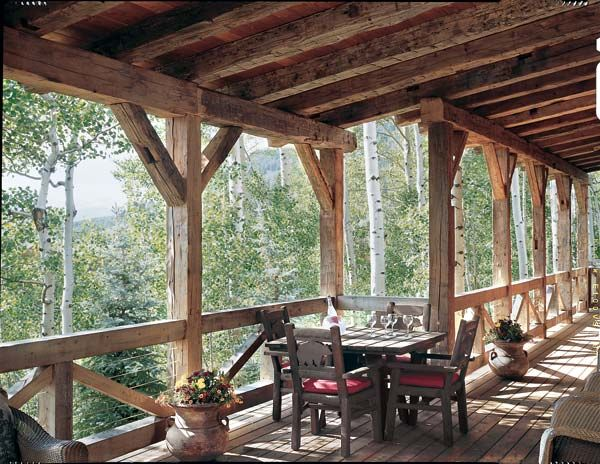 Timber Home Deck Made From Reclaimed Timbers Photo By