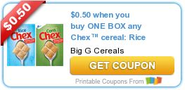 Tri Cities On A Dime: SAVE $1.50 WITH 3 COUPONS ON BIG G. CEREALS - CHEX...