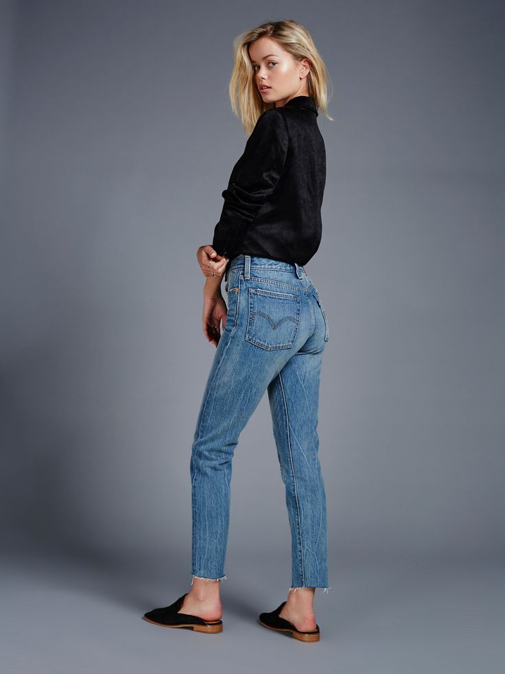 Levi's Wedgie Icon Patched Jeans | in Joshua Tree
