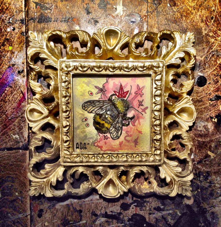 #AGA #artist #crown #watercolor #paint #pencil #art #flower #bee