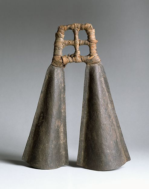 Double Bell. Date: late 19th century. Geography: Republic of Cameroon. Culture: Cameroonian. Medium: Iron