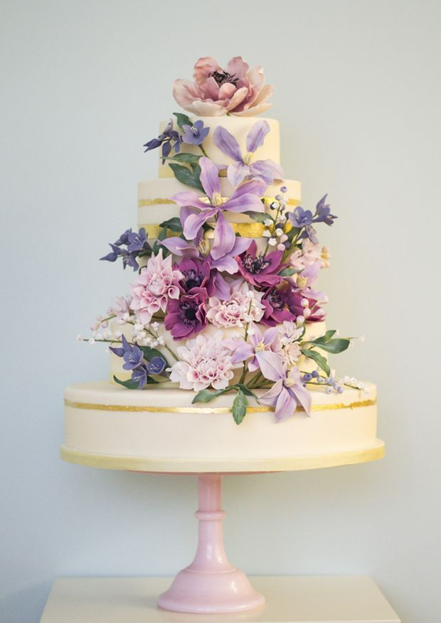 wedding cake idea; Rosalind Miller via Want That Wedding