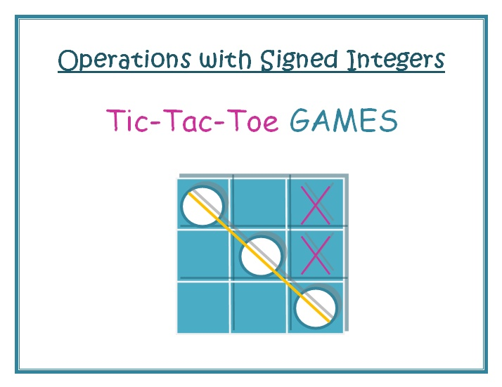Integer Tic Tac Toe Let's Begin Rules: 1.Erase all x's and o's ...