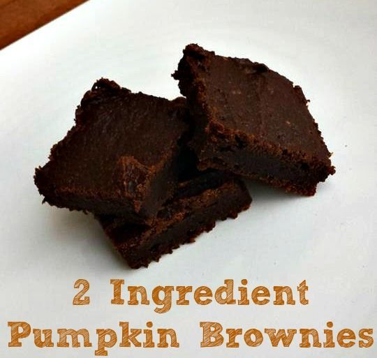 These 2 Ingredient Pumpkin Brownies are a quick and easy low Weight Watchers points plus dessert! They are fudge like in consistency!