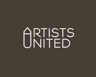 Artists United AU #logo #design by Logomotive - designed by Mike Erickson aka Logomotive