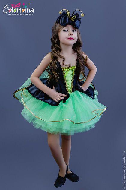 Купить или заказать костюм светлячка в интернет-магазине на Ярмарке Мастеров. карнавальный костюм светлячка для девочки комплектация: платье, шляпка,…
