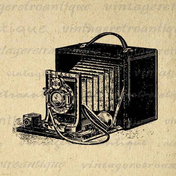 Digital Image Antique Camera Download Old Fashioned Printable Illustration Graphic Artwork Vintage Clip Art Jpg Png 18x18 HQ 300dpi No.1434 @ vintageretroantique.etsy.com #DigitalArt #Printable #Art #VintageRetroAntique #Digital #Clipart #Download