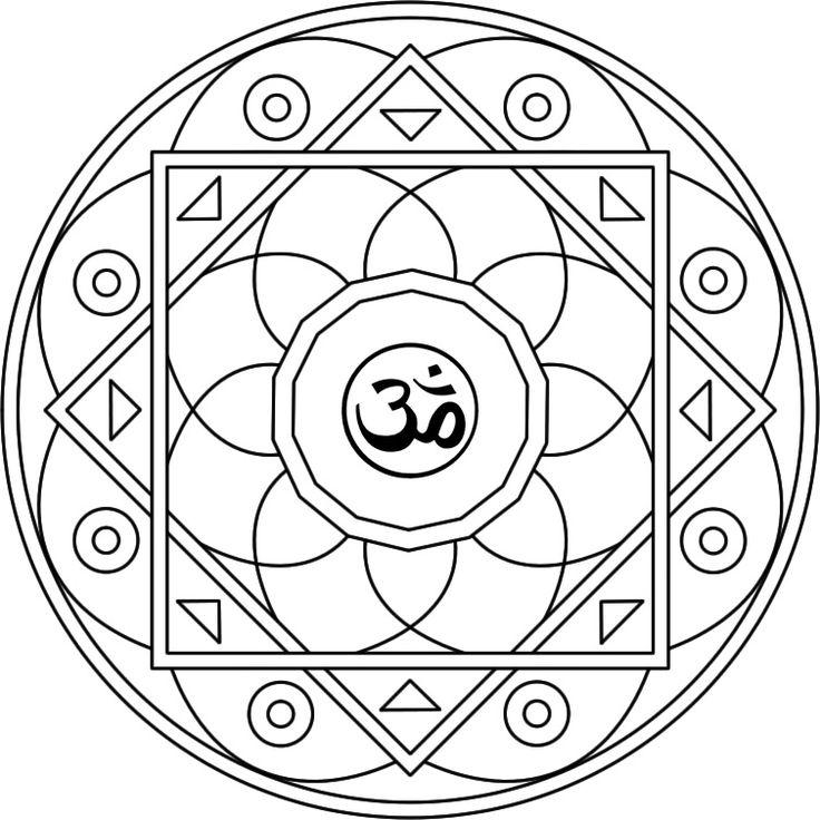 Mandala Om Mandala para pintar inspirado en el mantra sagrado Om - Mandalasparatodos.com.ar