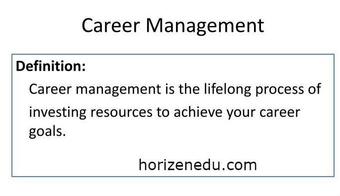 Career Management Definition Process Benefits Career Management Business Education Management