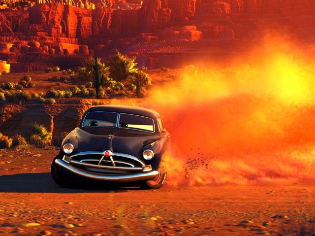 """Cars -- Doc Hudson """"if your going hard enough left, you'll find yourself goin' right"""""""